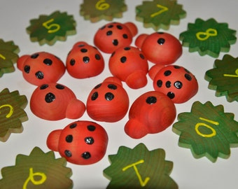 Ready to Ship Ladybug Counting Montessori Busy Bag Preschool Activity