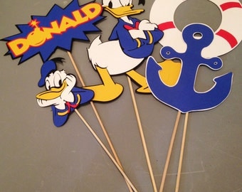 Donald Duck Center Piece, Birthday Partys, Disney themed, 5pc., Mickey Mouse friend