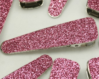 """70mm (2 5/8"""") Hot Pink Alligator Clips for girls baby hair accessories Glitter Sequin Hair clips double prong Alligator clips wholesale lot"""