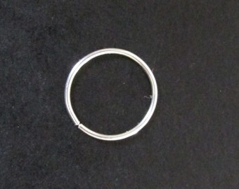 Silver Hoop Nose Ring, Silver Nose Ring, Thin Nose Ring, Hypoallergenic Nose Ring Hoop, Hoop Nose Ring, Nose Ring Septum, Septum Ring