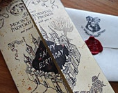 Harry Potter Marauder's Map Birthday Card