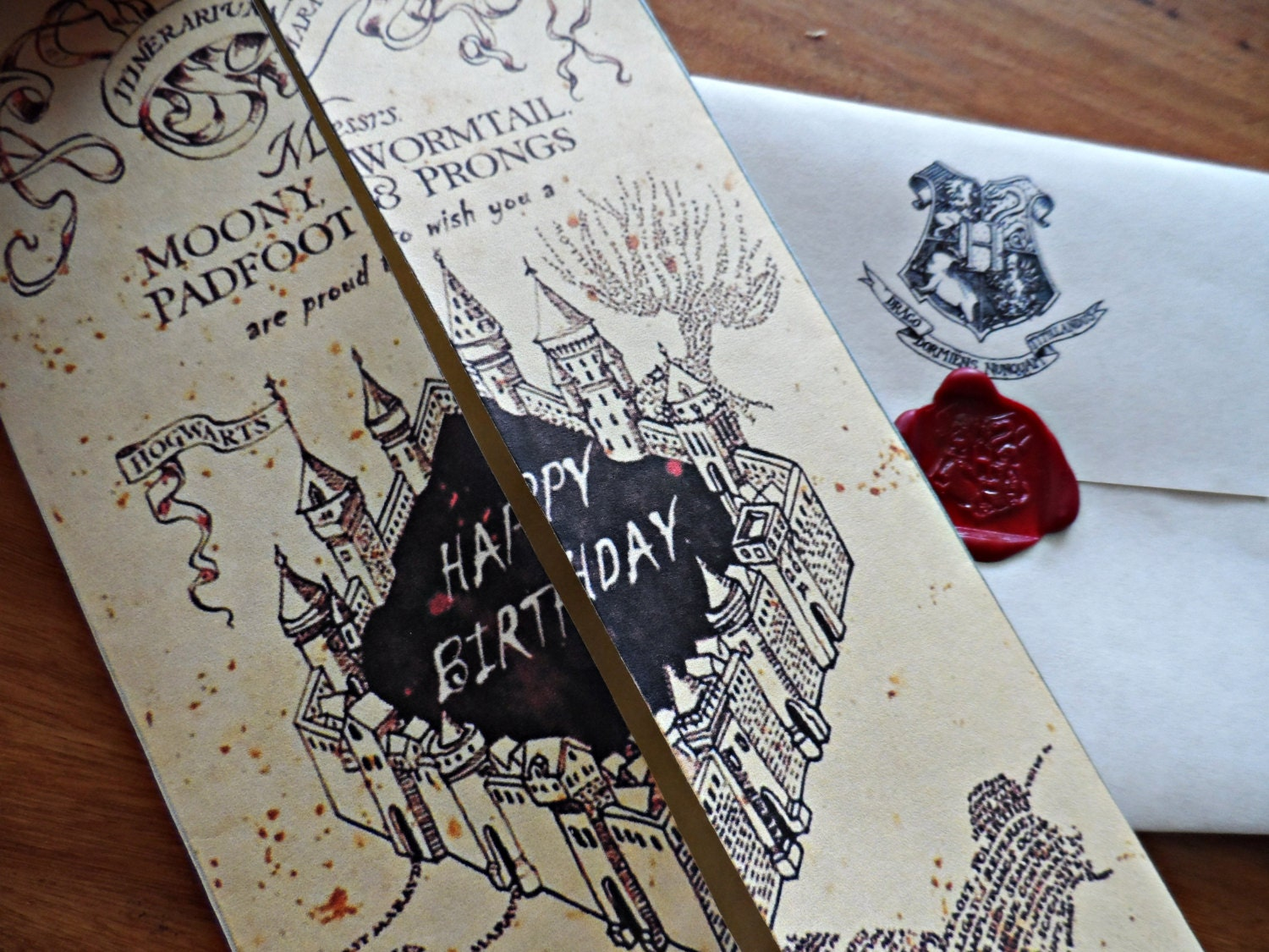 Harry Potter Birthday Cards Free Printable ~ Harry potter marauder s map birthday card by darkartswitchcraft