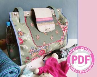Mommy bag / PDF sewing tutorial and patterns / Shoulder Bag / tote bag