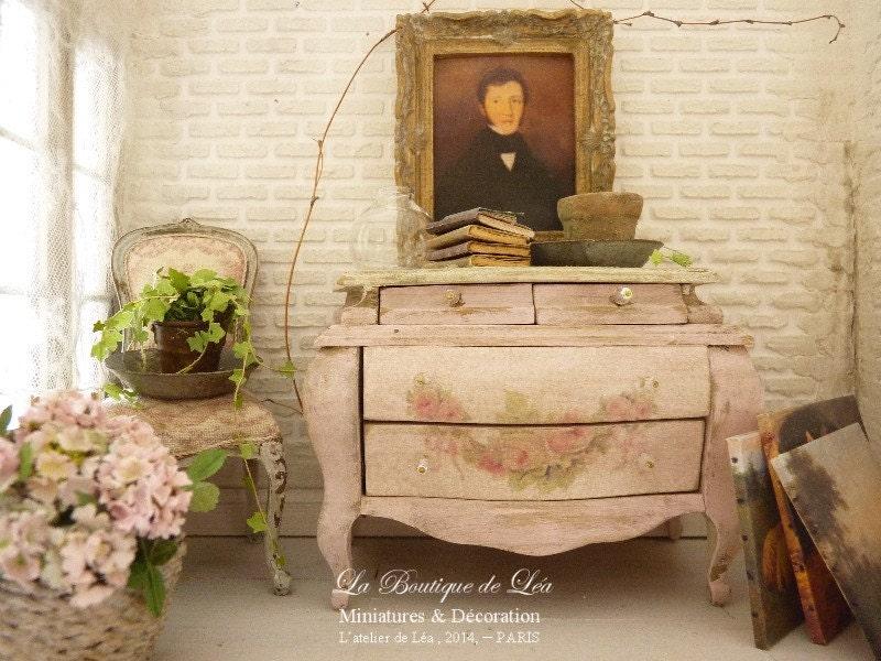Shabby rose p le commode tombeau louis xv mobilier en bois - Commode louis xv bois de rose ...