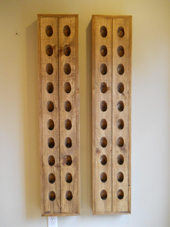 Two French Riddling Racks Wine Rack By Cozycreekwoodworking