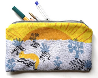 Illustrated pencil case - The morning sunrise