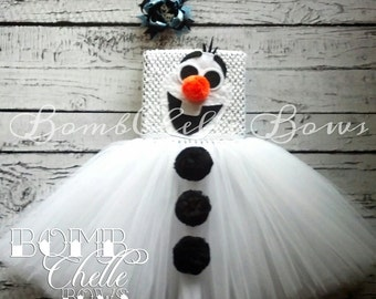 Frozen Olaf Snowman TuTu Dress