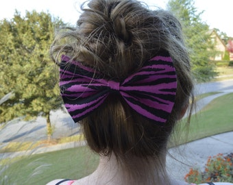 Hair bow,black zebra hair bows,hair bows for girls,girls hair bows