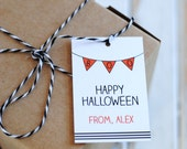 Boo Bunting Halloween Favor Tags - Halloween Party - Halloween Favor Tags - Digital Design OR Handcrafted Tags - FREE SHIPPING