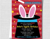 Boy Magic Birthday Party Invitation - Magic Themed Party - Digital Design and Printed Invitations - FREE SHIPPING
