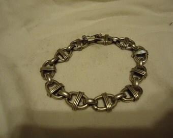 "Hefty Vintage Sterling Silver 8.25"" Bracelet-On Sale Now!"