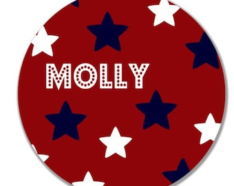 personalized Melamine Plate - custom melamine dish Stars and Stripes