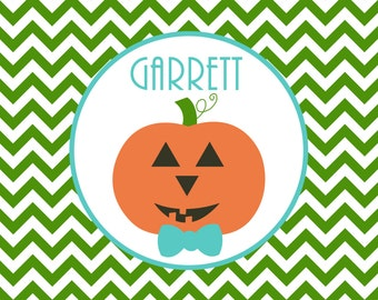 Personalized Placemat - 12x18 laminated placemat jack o lantern