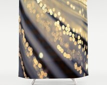 "Rustic shower curtain, bokeh, rustic photography, barn, lights, abstract, glow - ""Barn Dance"""