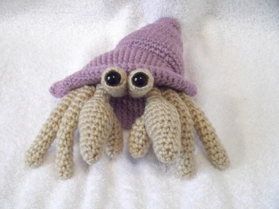 Amigurumi Hermit Crab : Items similar to Amigurumi Crocheted Hermit Crab With ...