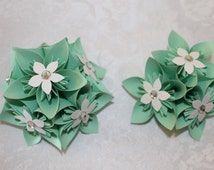 Mint Green Corsage and Boutonniere