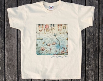 Kids T Shirt  - Crazy Crabbing, Devon