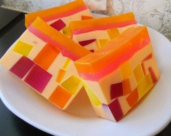 Mango Sorbet Glycerin Soap/ Homemade Soap/ Natural Soap/ Mango Butter Soap/ Vegan Soap/ Moisturizing Soap