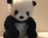 Needle felted Panda cub