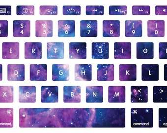 Lavender Nebula Stellar Ring Macbook Keyboard Decal Stickers