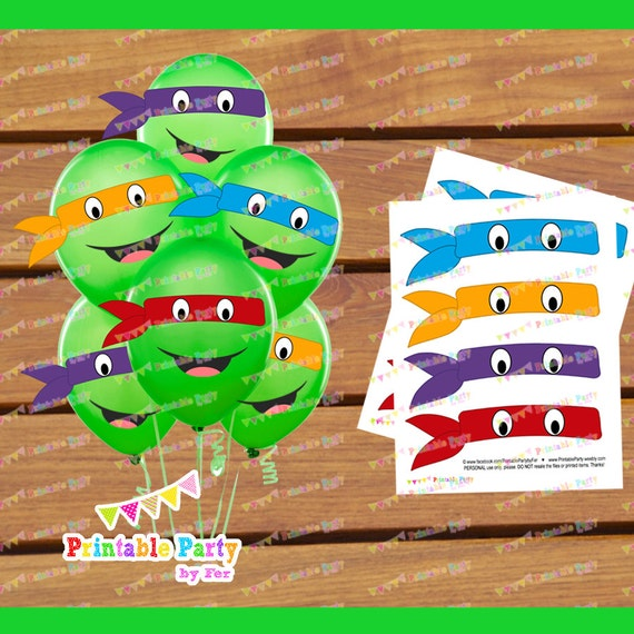 Balloon Turtle Mask Eyes Birthday Party Decoration Supplies Stickers