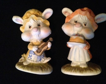 Lefton China 1981 rabbits