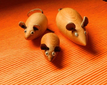 Wooden Mousy Family