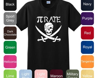 Pirate Spelled with Pi T-Shirt 2000 - WIT-128