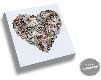 Heart Photo Collage - Heart Shape Picture Collage