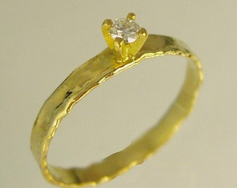 Handmade Engagement Ring.Daimond ring,14 karat  ring, White gold ring,Recycled gold, Wedding Band, Gold