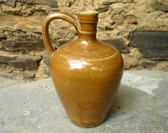 "earthenware whiskey bottle/ jug/ jar ""federal law prohibits..."""