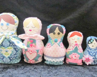Russian Dolls Doorstop & Stuffed Toy Sewing Pattern pdf