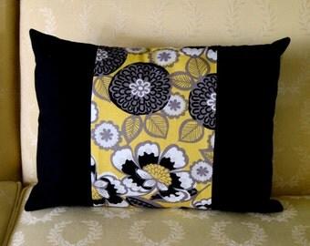 Designer Black Accent Pillow Cover
