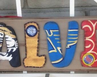 All About Plaque - Calvin - Each Letter Represents His Favorite Missouri Teams
