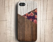 iPhone 5S Case - Vintage Floral Geometric Triangle Wood ,Wood iPhone 5 Case , Flower iPhone 4s case , Geometric iphone 4 case , iphone cover