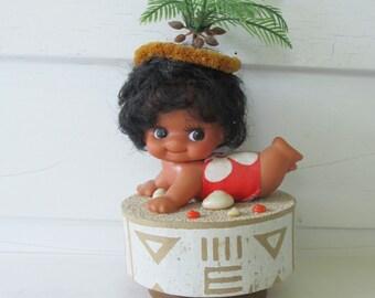 Vintage, 1960's, 70s, Hawaiian Themed, Music Box