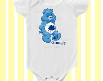 Care Bears Grumpy 1980's inspired Baby Bodysuit by Simply Baby