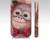 Monkey phone case, orangutan device case, monkey iphone case, monkey samsung galaxy case, art phone case, animal phone case, designer case