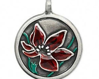 Rose Pendant - Hand Painted Rose Pendant - Rose Necklace - Rose Jewelry - Flower Pendant - Flower Necklace - Flower Jewelry - Roses