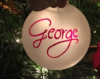 Personalized Custom Painted Christmas Ornament