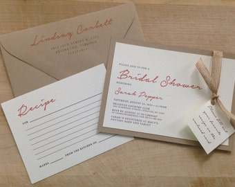 Couple's Wedding Shower Invitation // Simple and Vineyard Invite // Purchase this Deposit to Get Started