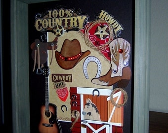 COWBOY, 100% COUNTRY Shadowbox
