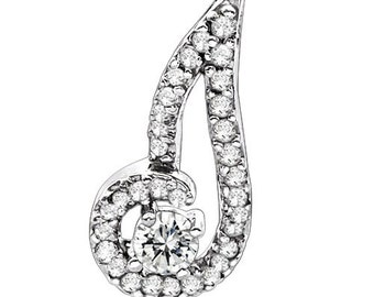 Sterling Silver Dainty Fashion Pendant with Cubic Zirconia