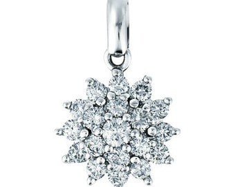 Sterling Silver Cluster Pendant with Cubic Zirconia