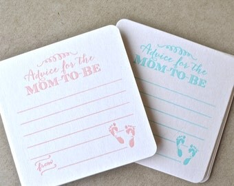 Advice for the Mom-to-Be Baby Shower Coasters - Set of 10, Baby Shower Coasters, Personalized Baby Shower Decor, Gender Reveal Party