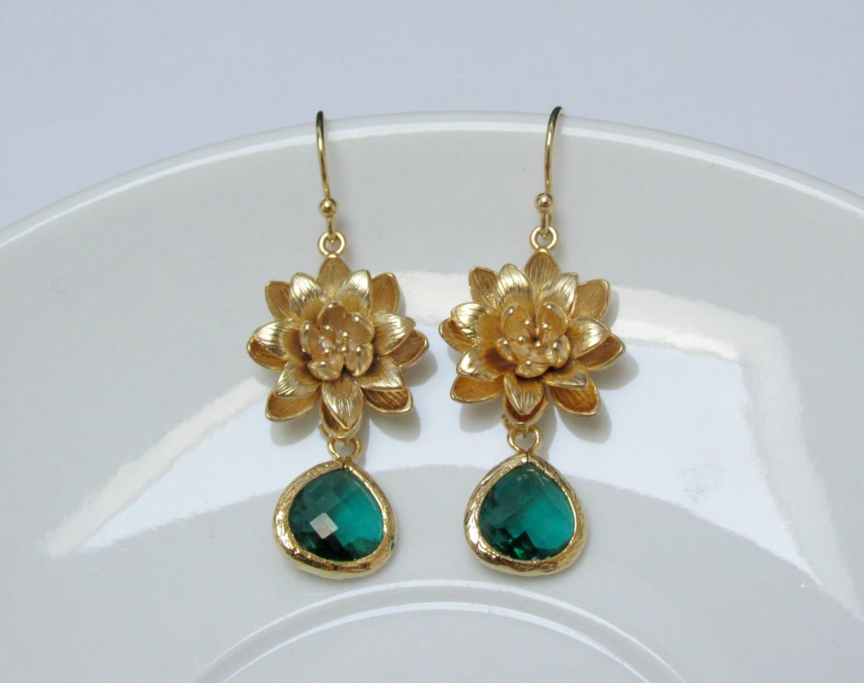 gold lotus earrings earrings lotus flower earrings