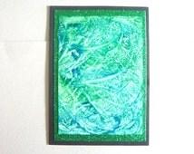 An Original Handmade Abstract Encaustic Art Greetings Card 005.