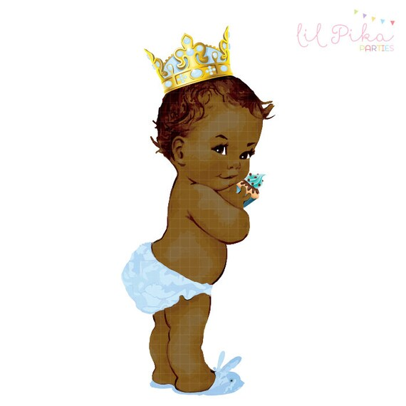 Vintage Baby Prince Birthday Clipart by Parteestry on Etsy