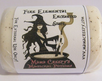 Fire Elemental Enchanted Soap Handcrafted Wicca Pagan Witchcraft