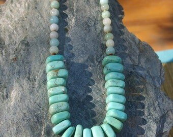Turquoise Necklace, Chunky Turquoise Statement Necklace, Blue, Statement Piece,